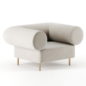 Rolled Back Lounge Chair By Studio Paolo Ferrari
