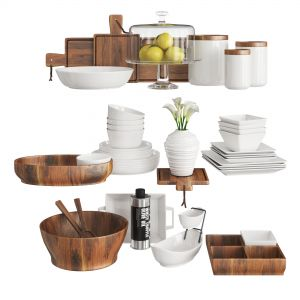 Kitchen Set Wood And White