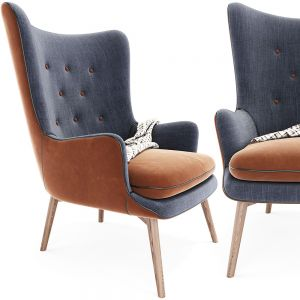 Charming Tufted Wing Back Arm Chair