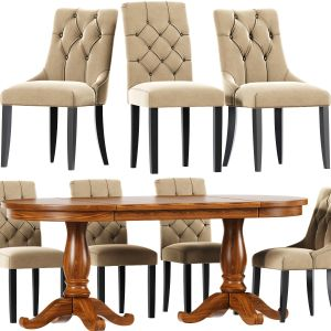 Chesterfield Dining Chair Set