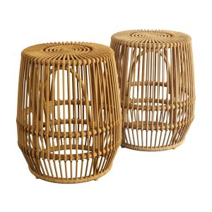 Pyronia Rattan Cage Accent Table Natural
