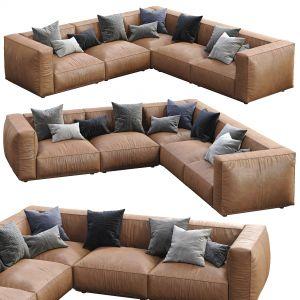 Marechiaro Leather Sofa By Arflex Composition 1