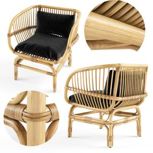 Nordal Lounge Chair Natural Rattan