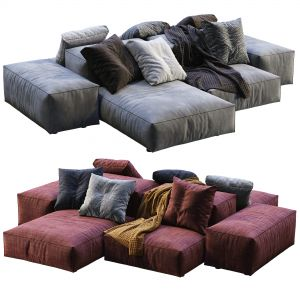 Livingdivani  Sofa Extra Wall (2 Color Version)