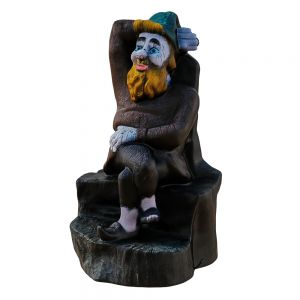 Garden Figurine Gnome Sitting On A Stump