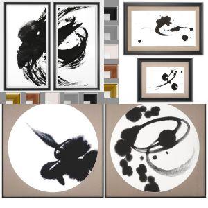 6 Art Frames Collection Kanji
