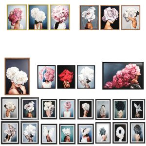 27 Art Frames Flower Head & Feather Head