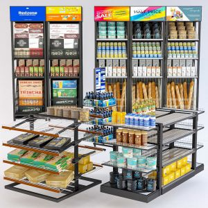 Grocery Display Rack Collection