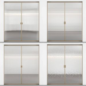 Sliding Doors With Embossed Glass