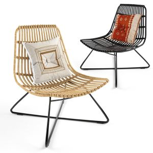 Costa armchair with polyrattan