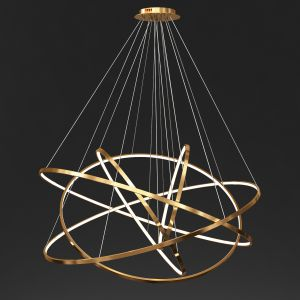 Gold Ring Chandelier 4