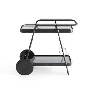 Charcoal Barbie Bar Serving Cart