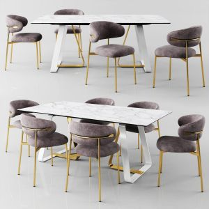 Calligaris Sunshine Table With Oleandro Chair