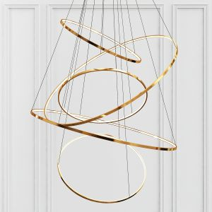 Gold Ring Chandelier 5