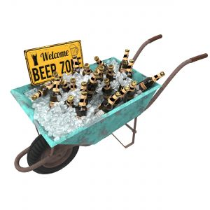 Wheelbarrow With Beer