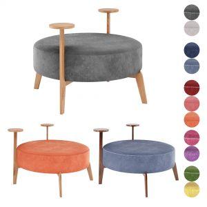 Poufs Vol3- Round Velvet Pouf By Adjustable Color