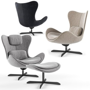 Calligaris Lazy Armchair With 4 Spoke Base