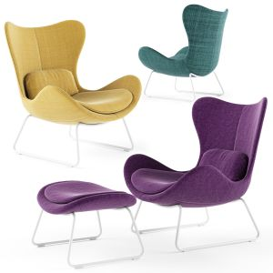 Calligaris Lazy With Sled Base Armchair
