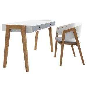 Vox Concept Desk With Vox Uni Chair White