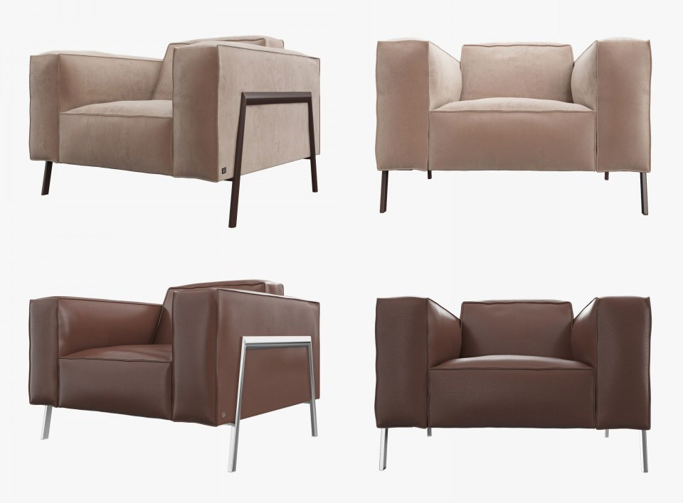 ROLF BENZ Bacio Armchair - 3D Model for VRay
