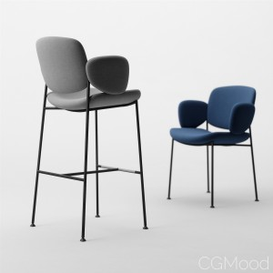 Arrmet Macka armchair and stool