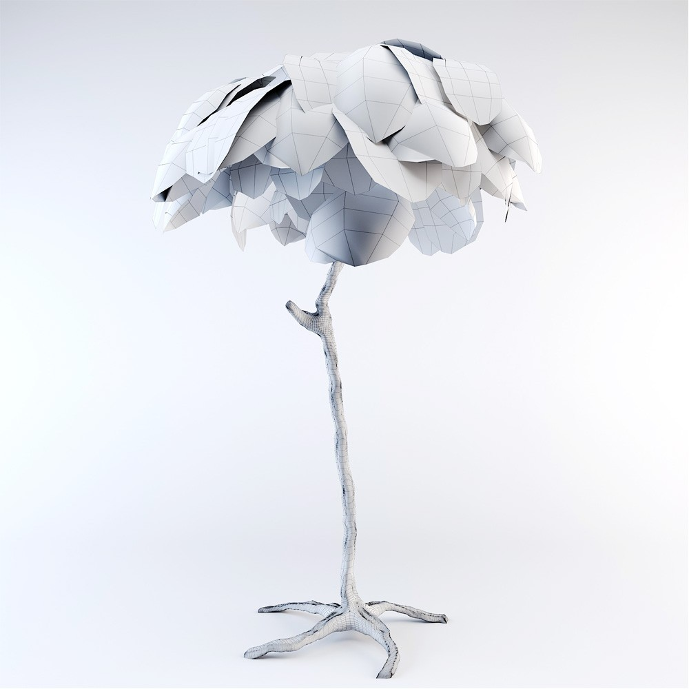 Ostrich Feather Lamp - 3D Model for Corona