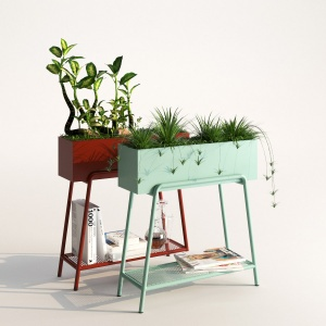 Rubra metal planter stand by Made
