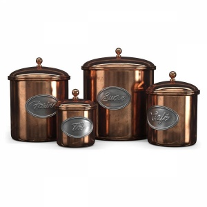 Vintage copper jars