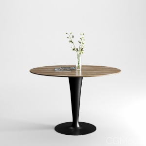 Flute Wood Table by Sovet Italia