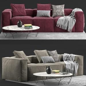 Sofa Peanut B Bonaldo 2 - 4 materials