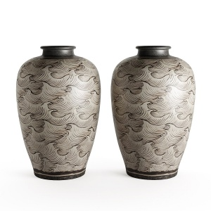 Vase (Meiping) with Waves