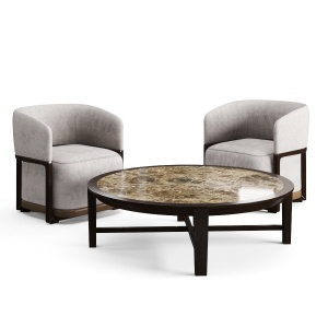 Round Coffee Table And Frida Armchair By Flexform