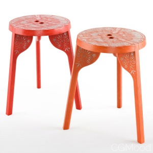 Tattoo Stool Three Legs