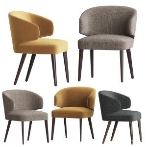 Modrest Carlton Grey Fabric Dining Chair