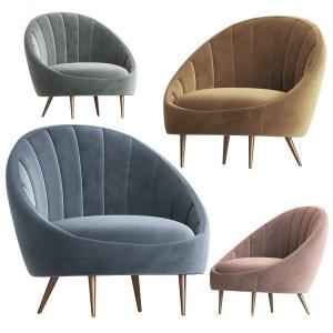 Ether Padded Strip Armchair