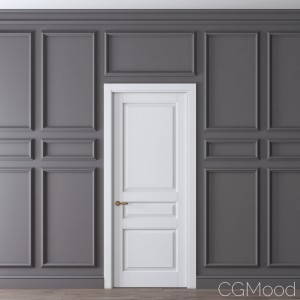 Classic Door And Wall Moulding 3