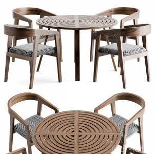 Wood Table Chair