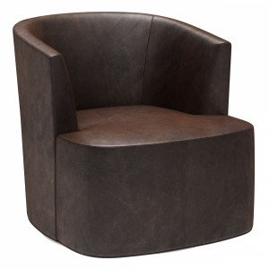 Restoration Hardware Arden Leather Swivel Chair