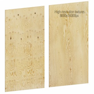 Plywood Sheet With High-resolution Textures