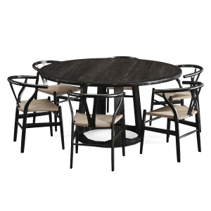 Black Wishbone Chairs