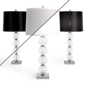 Amanda Black Crystal Glass Globe Lamp