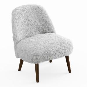 Sheepskin Fur White Armchair