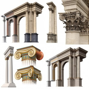 Architectural orders of Rome and Greece