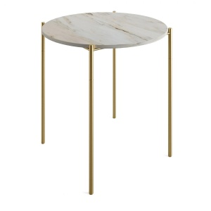 Zara Home Side Table With Marble Top