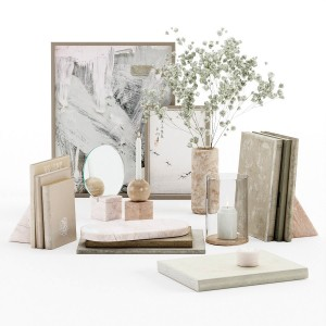 Marble Decorative Set With Old Books