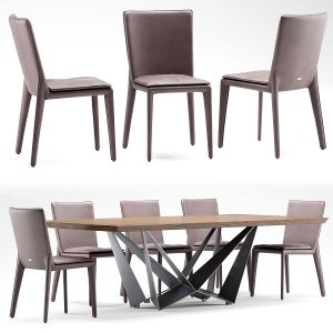 Table And Chair Cattelan Italia Vittoria