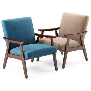 Linen Mid Century Modern Chair