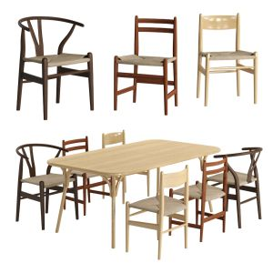 Chairs And Tables Collection By Carl Hansen & Søn