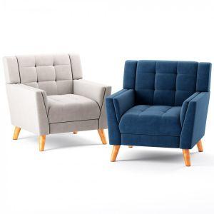 Alisa Mid Century Modern Armchair