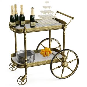 Bar Cart Champagne